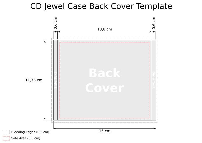 Cd Jewel Case Template Cd Templates for Jewel Case In Svg