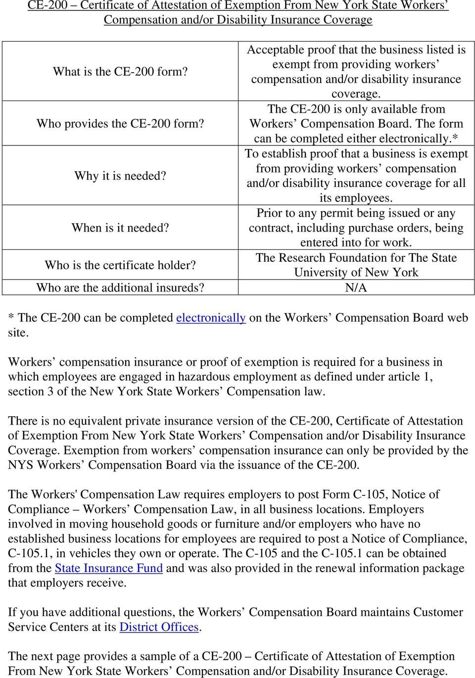 Ce 200 form New York Ce 200 Certificate Of attestation Of Exemption From New