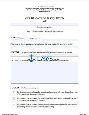 Ce 200 form New York form Dos 1337 Fl A Certificate Of Dissolution New York