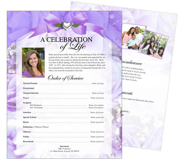 Celebration Of Life Program Template 12 Best Cards Funeral Templates & Programs Images On