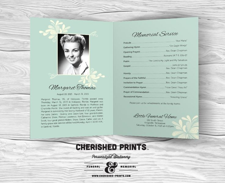 Celebration Of Life Program Template 18 Best Funeral Cards Images On Pinterest