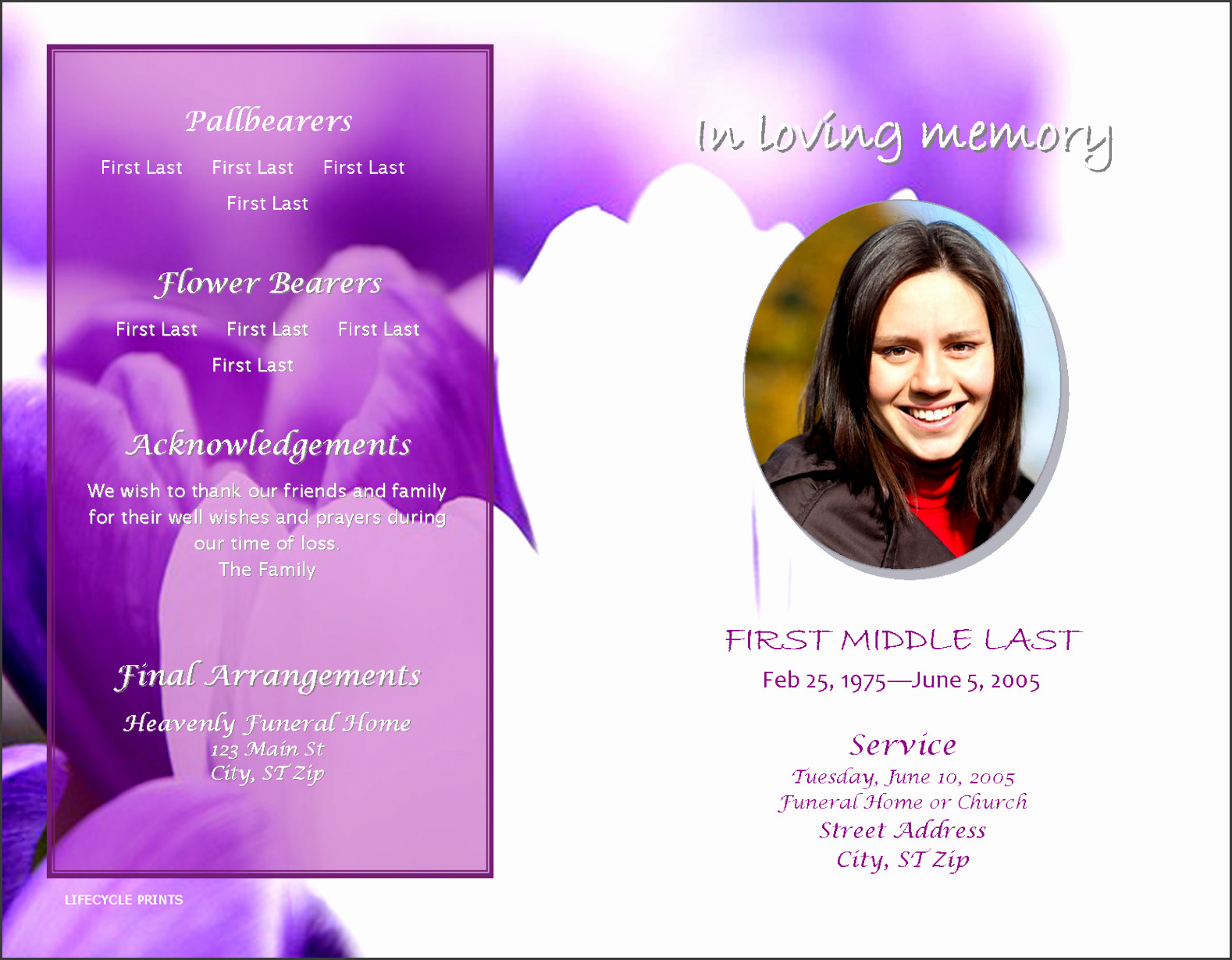 Celebration Of Life Program Template 9 Download Free Funeral Program Template
