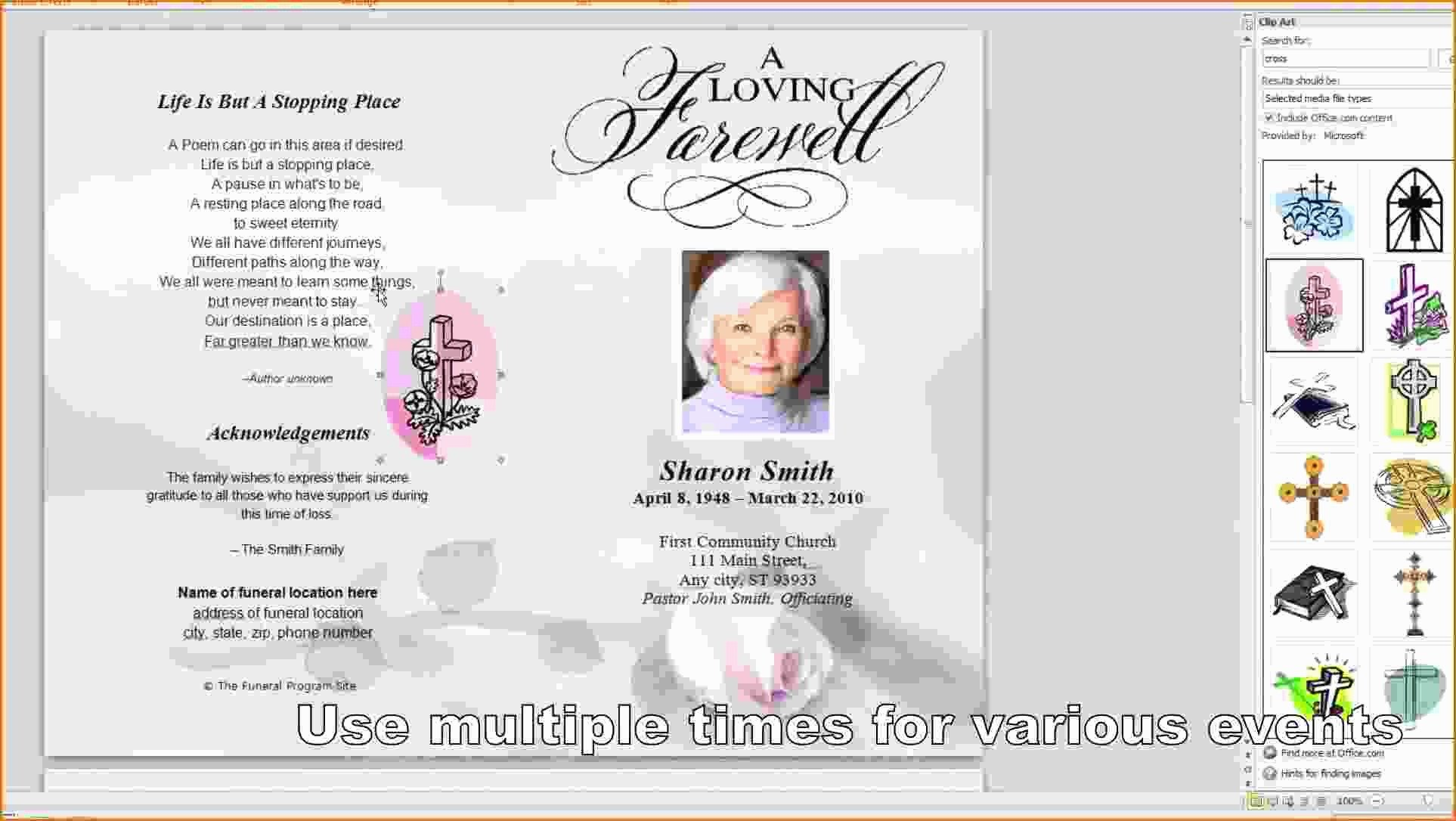 Celebration Of Life Program Template Celebration Life Template Free Here S What No E Tells