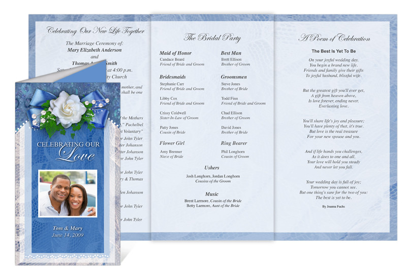 Celebration Of Life Program Template Celebration Of Life Store Printable Wedding Programs with