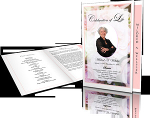 Celebration Of Life Program Template Funeral Program Design Gallery