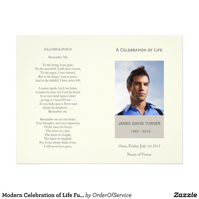 Celebration Of Life Program Template Modern Celebration Of Life Funeral Program Flyer