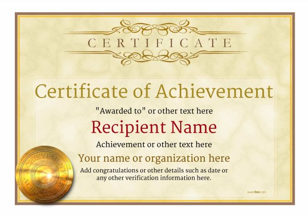 Certificate Of Achievement Template Certificate Of Achievement Free Templates Easy to Use