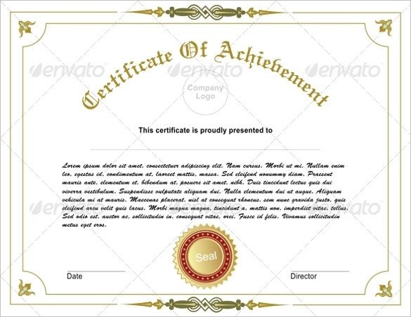 Certificate Of Achievement Template Certificate Of Achievement Template 38 Download In Psd