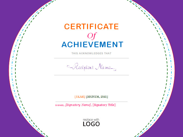 Certificate Of Achievement Template Word Certificate Of Achievement Template Microsoft Word Templates