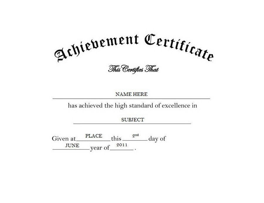 Certificate Of Achievement Word Template Certificate Of Achievement Free Word Templates & Clipart