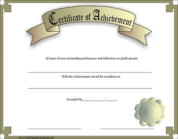 Certificate Of Achievement Word Template Certificate Of Achievement Template 38 Download In Psd