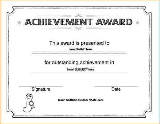Certificate Of Achievement Word Template Certificate Of Achievement Template Word 2