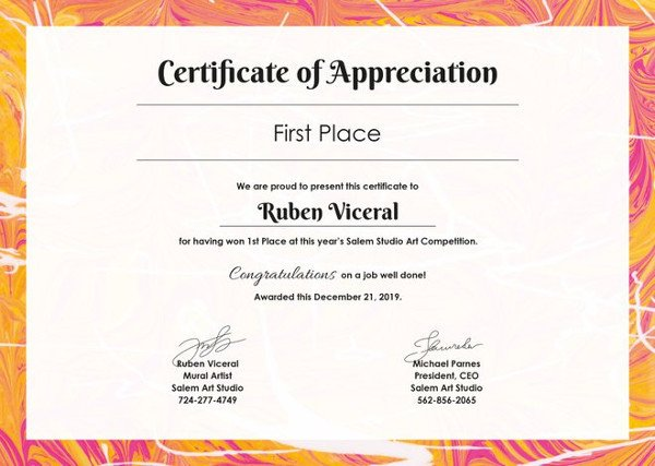 Certificate Of Appreciation Template 27 Certificate Of Appreciation Templates Pdf Doc