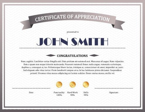 Certificate Of Appreciation Template 8 Free Printable Certificates Of Appreciation Templates