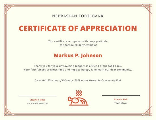 Certificate Of Appreciation Template Appreciation Certificate Templates Canva