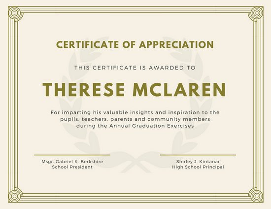 Certificate Of Appreciation Template Customize 89 Appreciation Certificate Templates Online