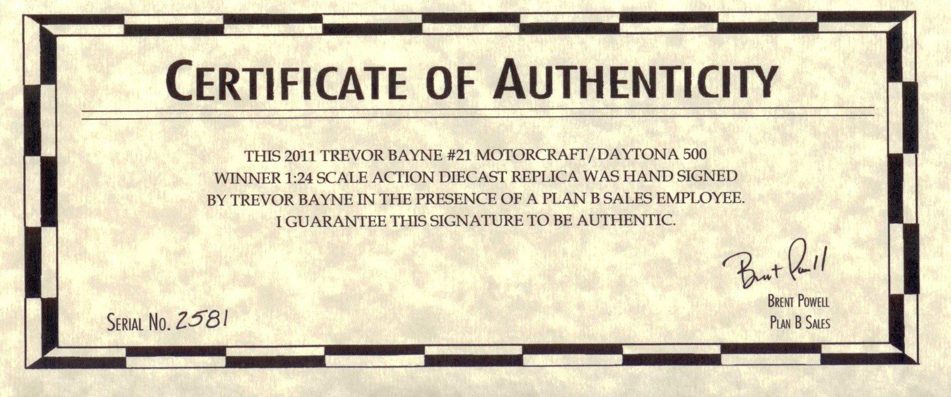 Certificate Of Authenticity Autograph Template Autograph Education