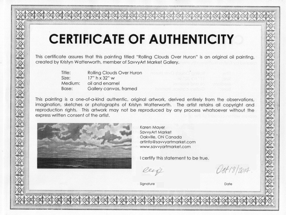 Certificate Of Authenticity Autograph Template Certificate Templates