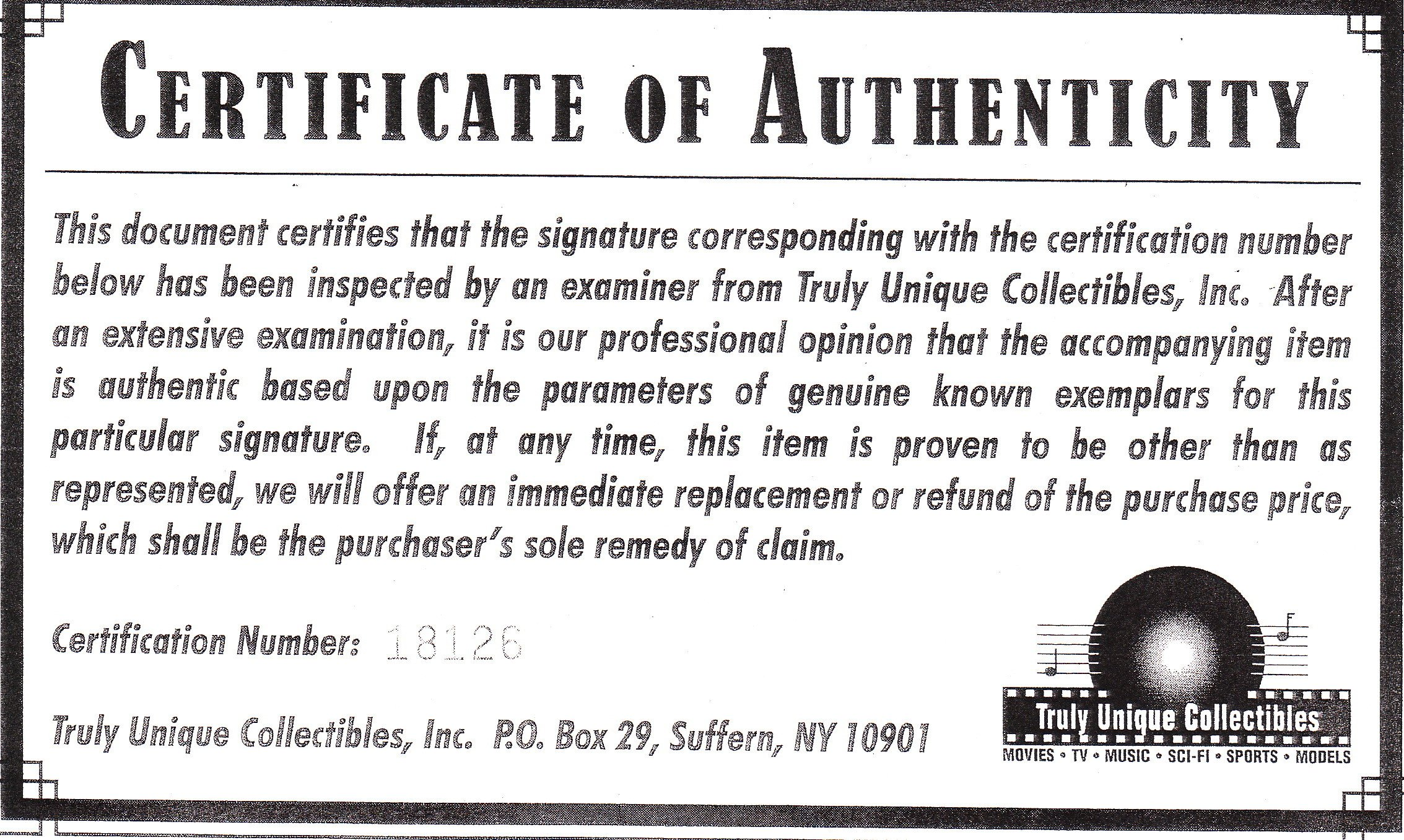 Certificate Of Authenticity Autograph Template Phony Autograph Authenticators and Fake Coas Mar