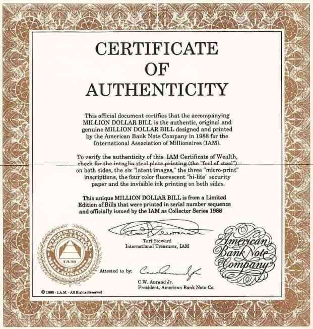 Certificate Of Authenticity Template Certificate Authenticity Templates Word Excel Samples