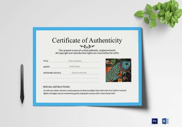 Certificate Of Authenticity Template Certificate Of Authenticity Template 8 Free Word Pdf