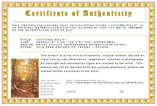 Certificate Of Authenticity Template Certificates Of Authenticity for Artists