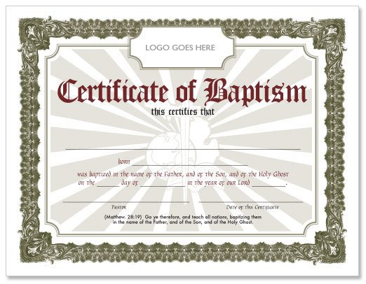 Certificate Of Baptism Template Free Baptism Certificate Hmong American Baptist Church