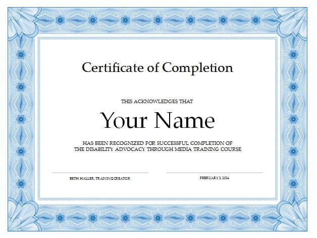 Certificate Of Completion Template Pdf 13 Certificate Of Pletion Templates Excel Pdf formats