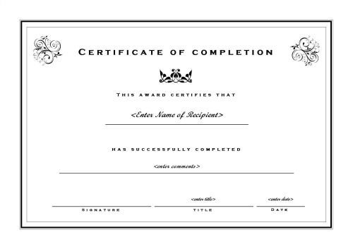 Certificate Of Completion Template Pdf 20 Free Certificate Of Pletion Template [word Excel Pdf]