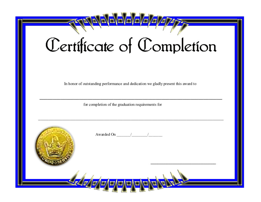 Certificate Of Completion Template Pdf 2019 Print Release form Fillable Printable Pdf & forms