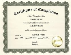 Certificate Of Completion Template Pdf 7 Free Certificate Of Pletion Templated Excel Pdf formats