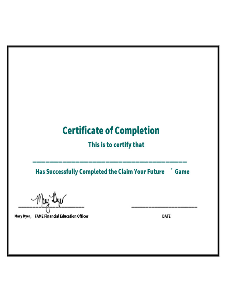 Certificate Of Completion Template Pdf Certificate Of Pletion 5 Free Templates In Pdf Word