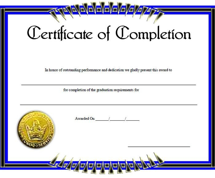 Certificate Of Completion Template Pdf Certificate Of Pletion Template – 31 Free Word Pdf