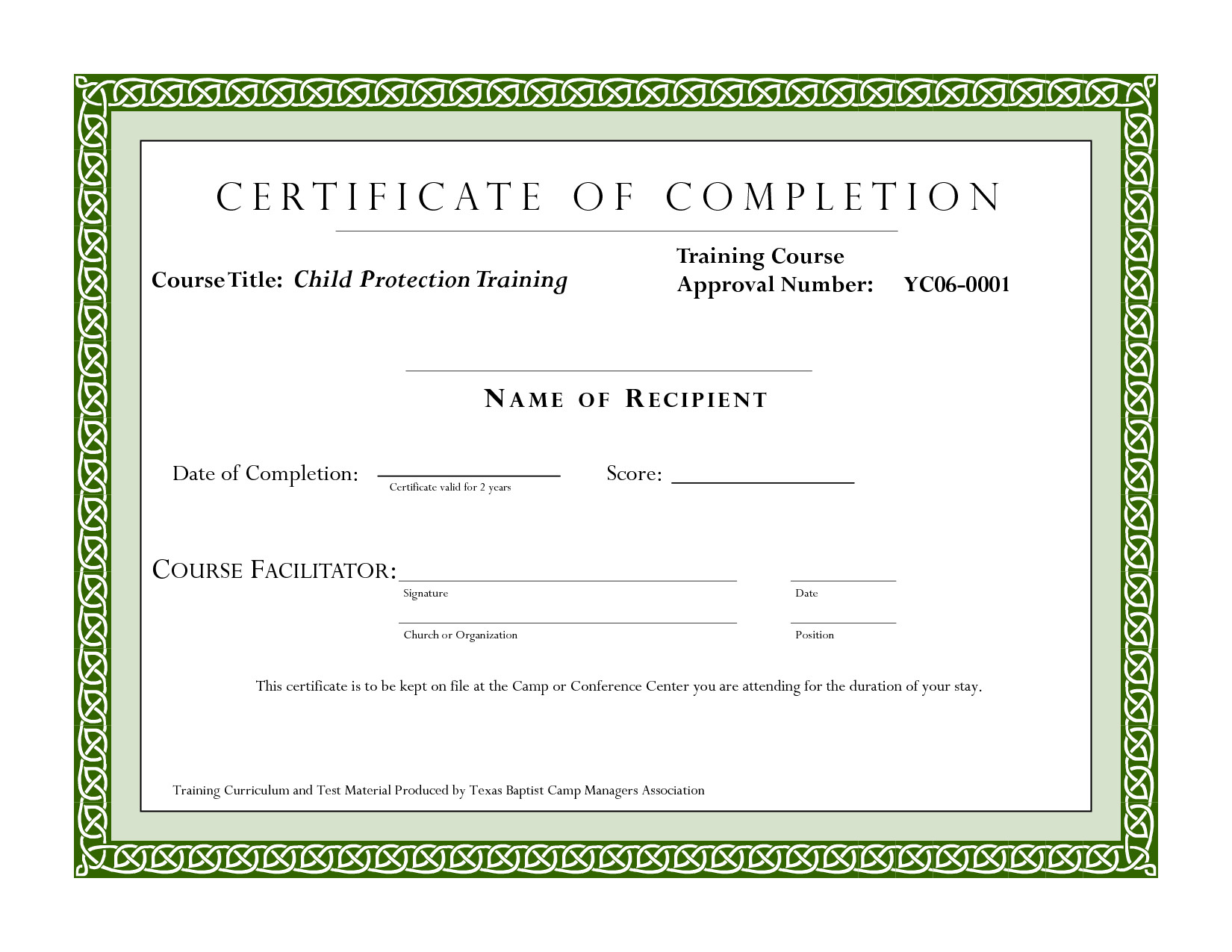 Certificate Of Completion Template Pdf Course Pletion Certificate Template