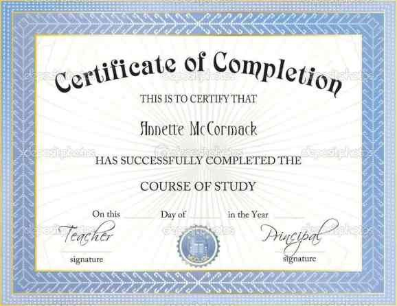 Certificate Of Completion Template Word 37 Free Certificate Of Pletion Templates In Word Excel Pdf