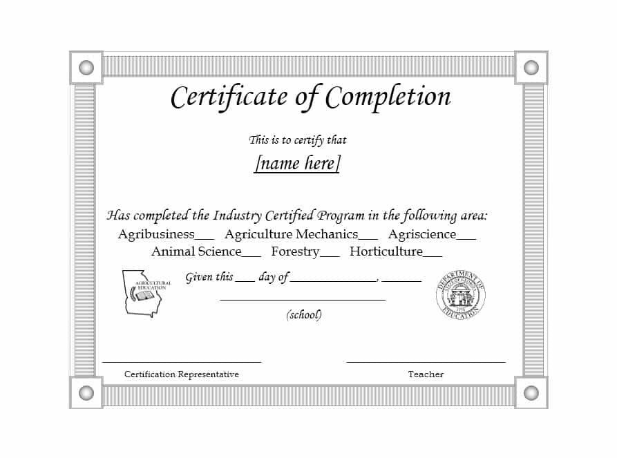Certificate Of Completion Template Word 40 Fantastic Certificate Of Pletion Templates [word