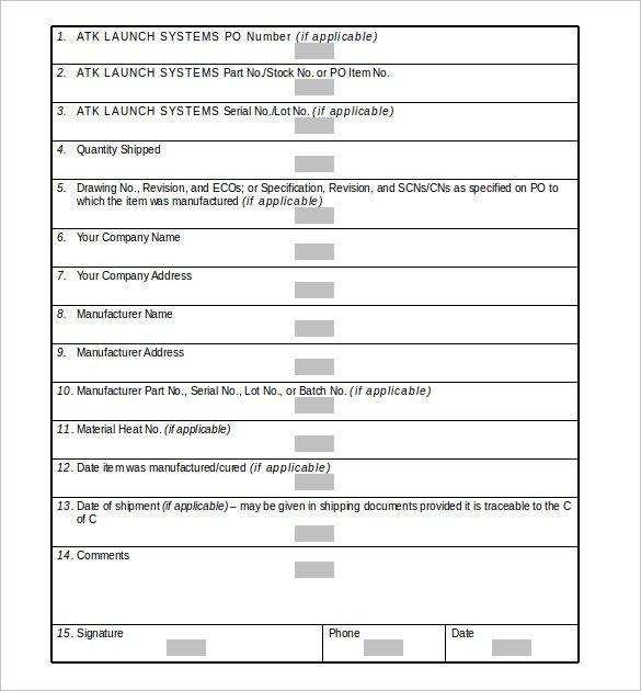 Certificate Of Conformance Template 20 Certificate Of Conformance Templates