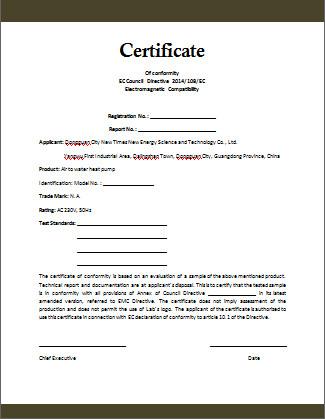 Certificate Of Conformity Template Conformity Certificate Template Microsoft Word Templates