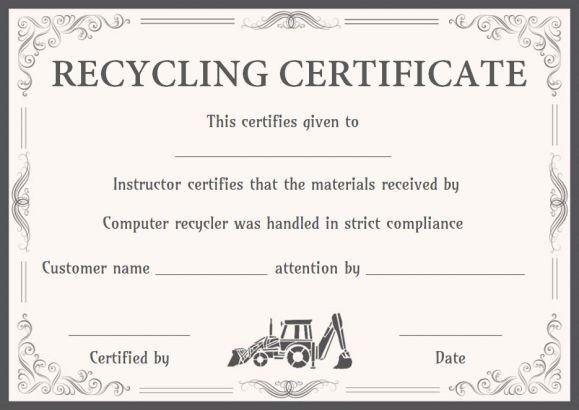 Certificate Of Destruction Template Certificate Of Product Destruction Template