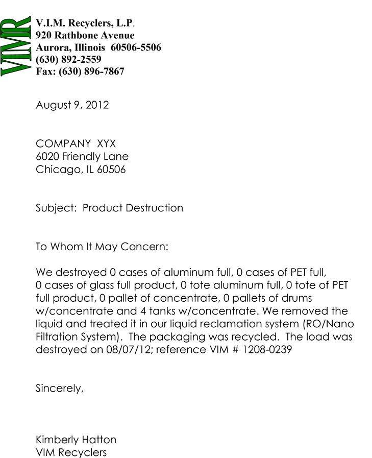 Certificate Of Destruction Template Certified Destruction