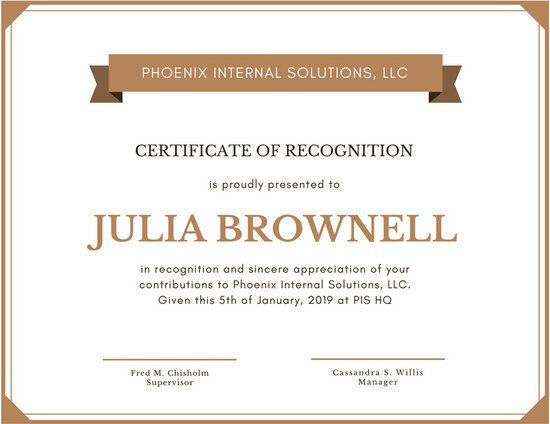 Certificate Of Recognition Template Customize 204 Recognition Certificate Templates Online