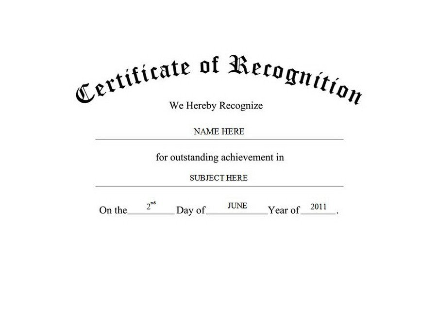 Certificate Of Recognition Template Geographics Certificates