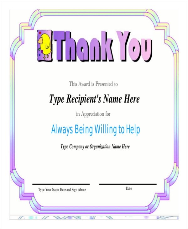 Certificate Of Recognition Template Word Certificate Of Appreciation Template 25 Free Word Pdf