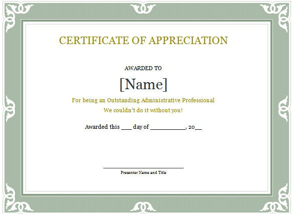 Certificate Of Recognition Template Word Word Certificate Template 49 Free Download Samples