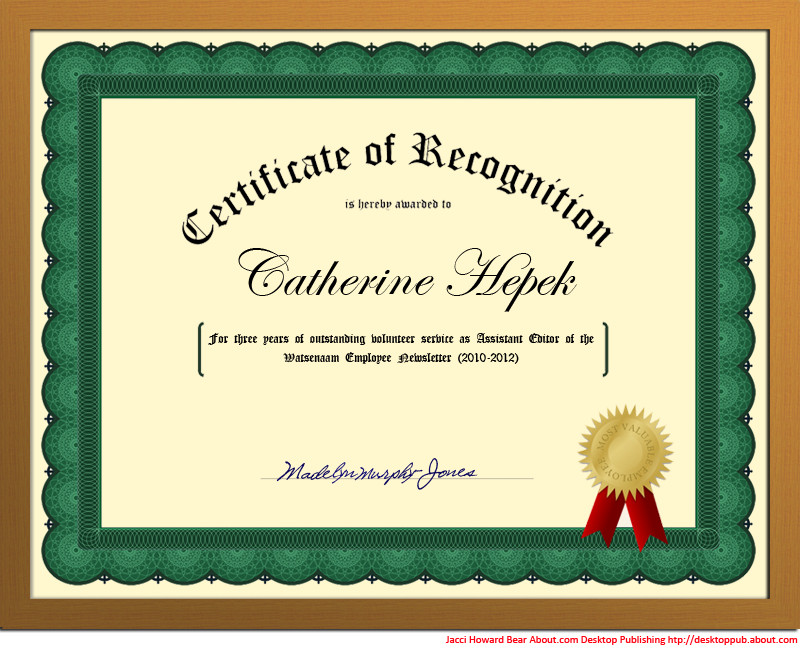 Certificate Of Recognition Template Word You Can Create A Certificate Of Recognition In Word for