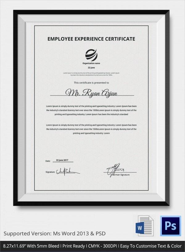 Certificate Of Service Template Sample Certificate Of Service Template 19 Documents In