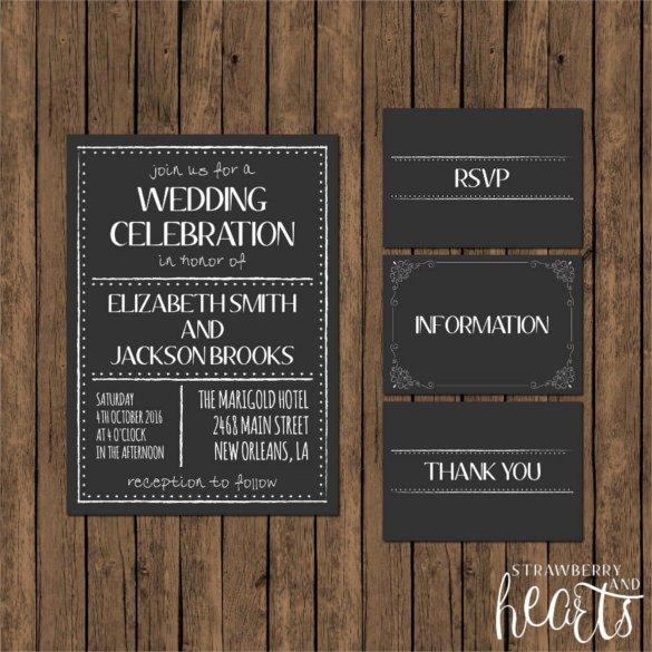 Chalkboard Invitation Template Free 26 Chalkboard Wedding Invitation Templates – Free Sample