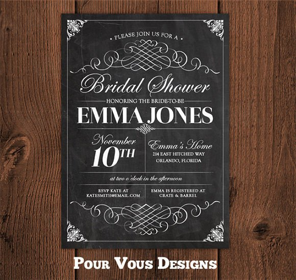 Chalkboard Invitation Template Free Chalkboard Invitation Template 43 Free Jpg Psd