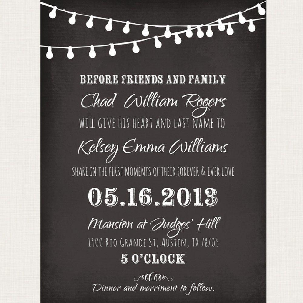 Chalkboard Invitation Template Free Chalkboard Wedding Invitation Templates Google Search