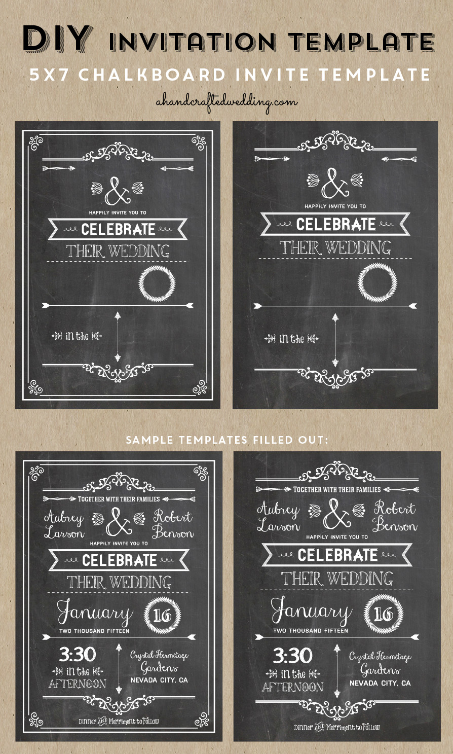 Chalkboard Invitation Template Free Check Out This Printable Diy Chalkboard Wedding Invitation